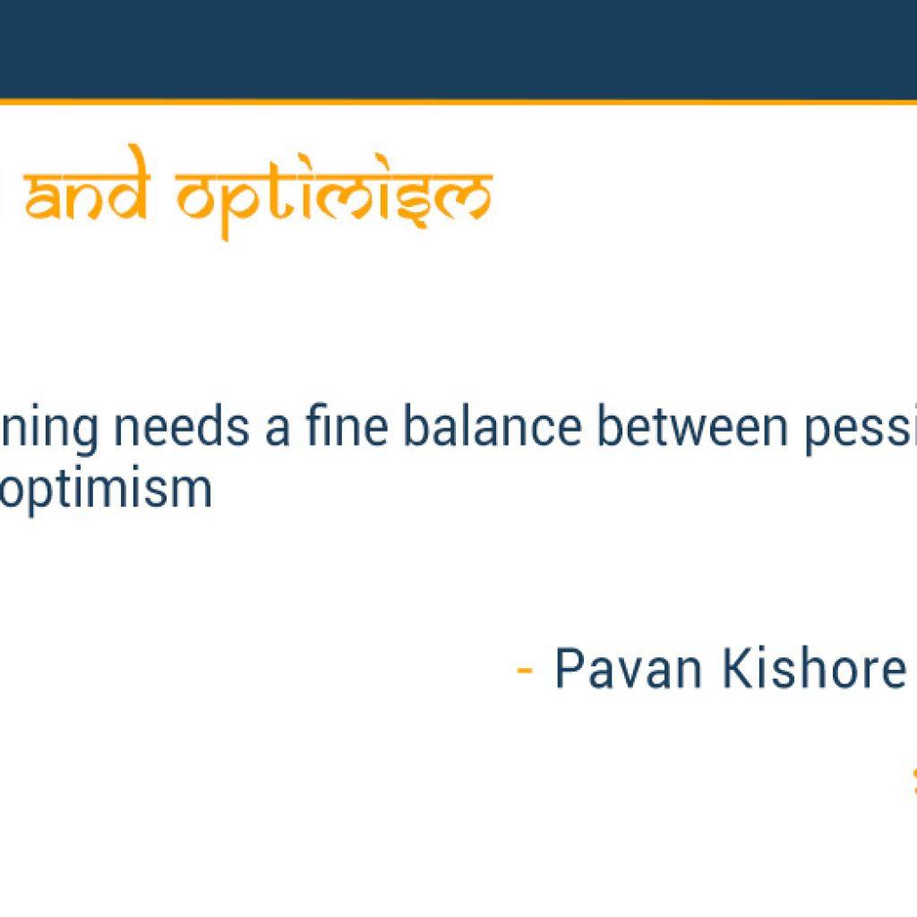 Pessimism and optimism