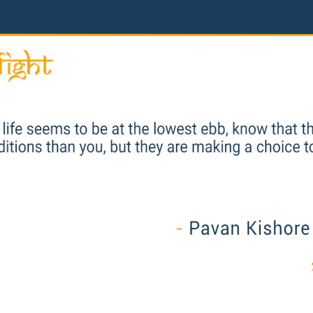 Choice to fight
