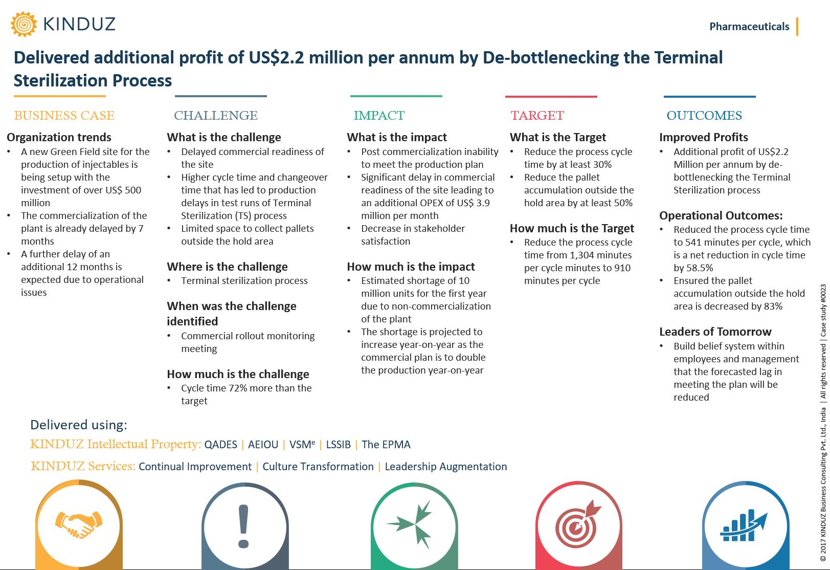 delivered-additional-profit-of-us2.2-million-per-annum-by-de-bottlenecking-the-terminal-sterilization-process